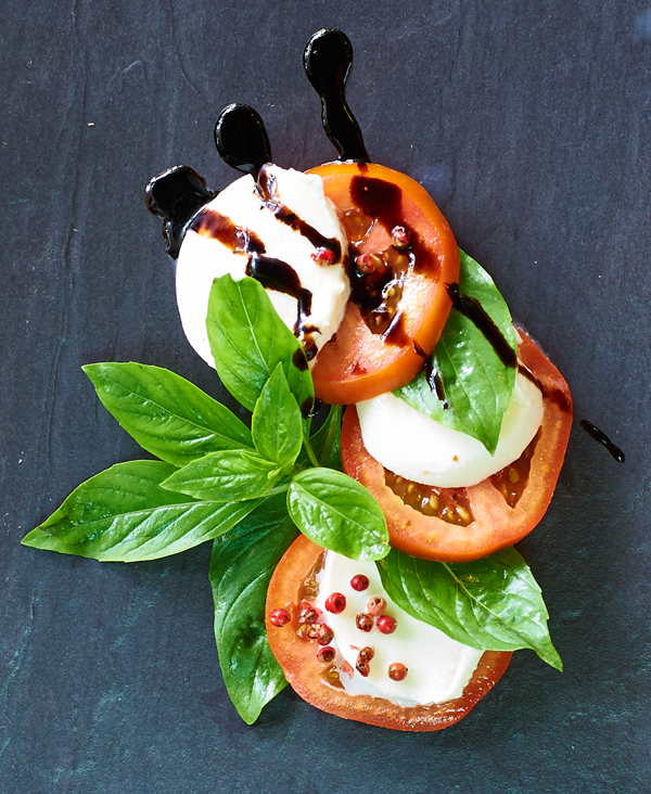 Fresh Mozzarella with tomatoes and basil